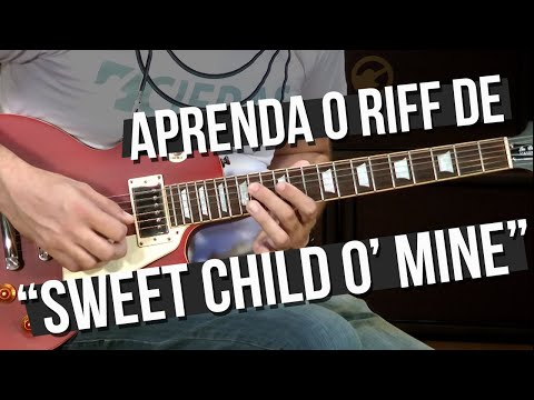 Guns N' Roses – Sweet Child O' Mine – Riff (como tocar – aula de guitarra)