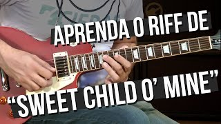 Guns N' Roses - Sweet Child O' Mine - Riff (como tocar - aula de guitarra)