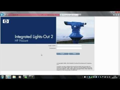 HP iLo 2 - Windows 7 SP1 - YouTube