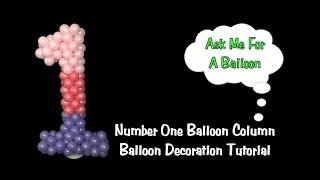 Nummer-Eins-Ballon-Dekoration