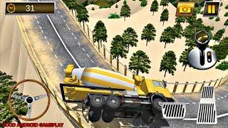 Construction Crane Hill Drive - Cement Truck   Dangerous Hills   Android GamePlay FHD