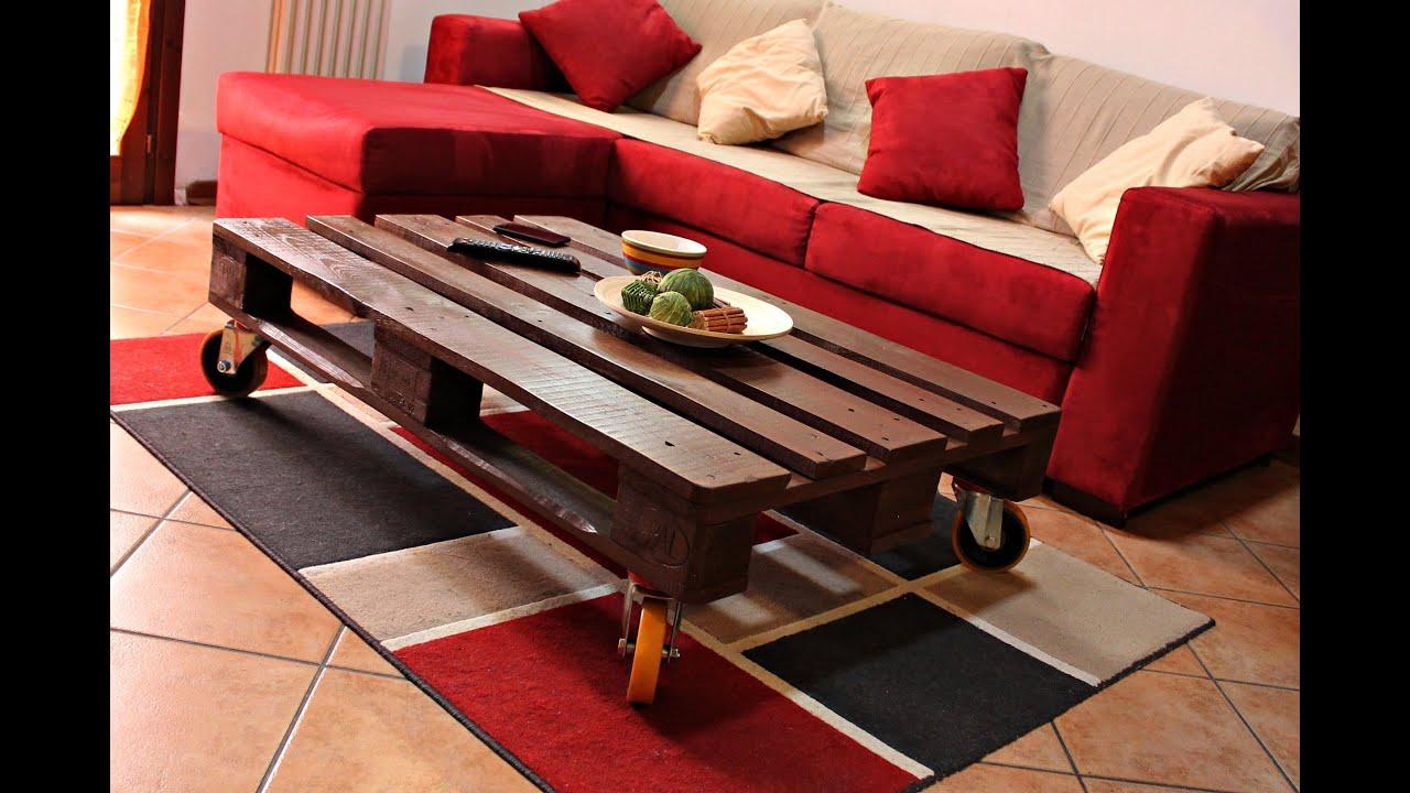 Come Creare Un Tavolino Da Salotto.Costruire Un Tavolino Pallet Fai Da Te Riciclo Pallet