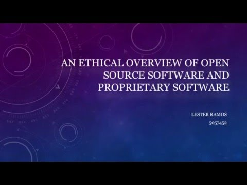 Open Source & Proprietary Software Ethics