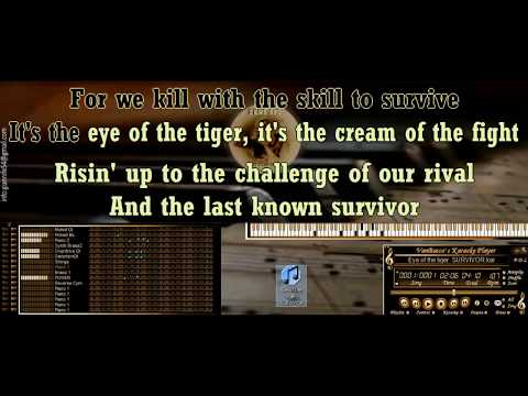 Eye of the tiger  SURVIVOR KARAOKE BASI MIDI DEMO SOUNDFONT