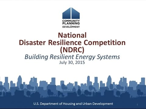 NDRC Topical Resilience Webinar: Building Resilient Energy Systems – 7/30/15