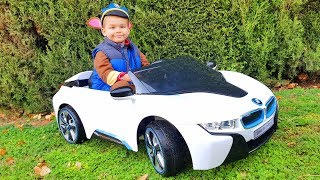 FUNNY BABY Paw Patrol Unboxing and Assembling new Bmw i8 Ride On POWER WHEEL