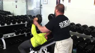 incline dumbbell press at s w e a t justine dohring b chavez