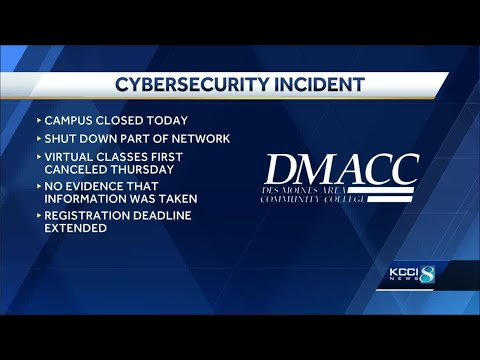Cybersecurity issue closes Des Moines Area Community College