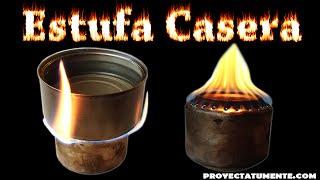 Como Hacer una Mini Estufa Casera  (Cocina Casera Portátil )