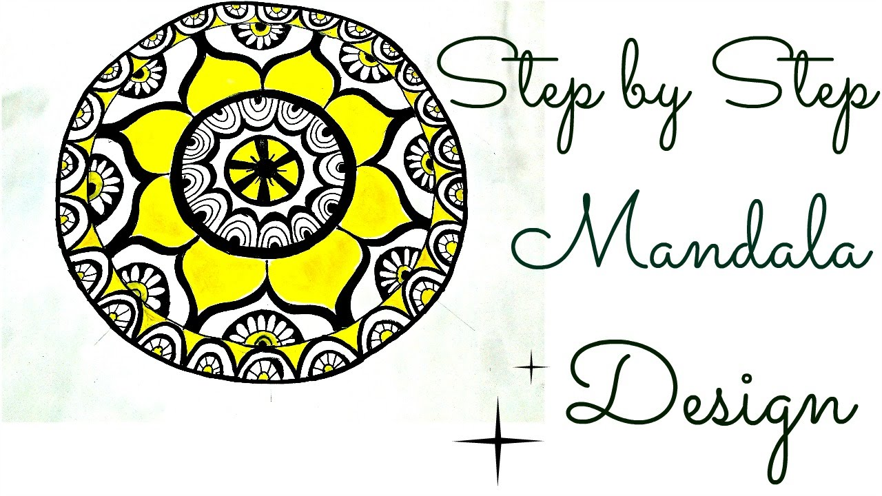 HOW TO DRAW A COLORED MANDALA