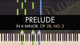 Frédéric Chopin - Prelude in A minor, Op. 28, No. 2 (Synthesia)