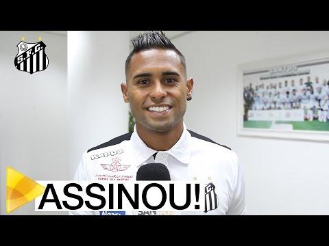 Kayke assina e é o novo reforço do Santos
