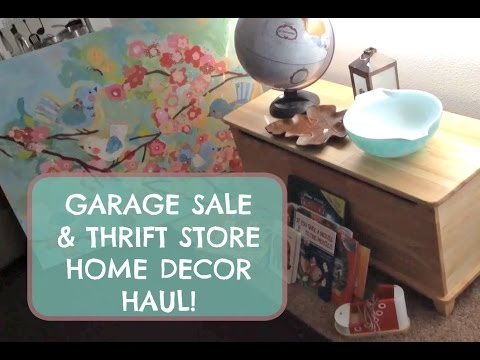 Garage Sale Thrift Store Haul Home Decor Toys And Books