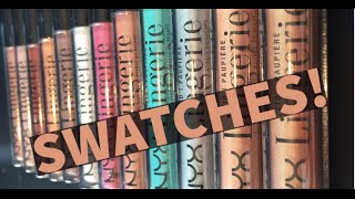 SWATCHES | NYX LID Lingerie