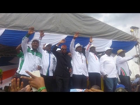 Nasa coalition rally in Afraha Stadium in Nakuru - As it happened