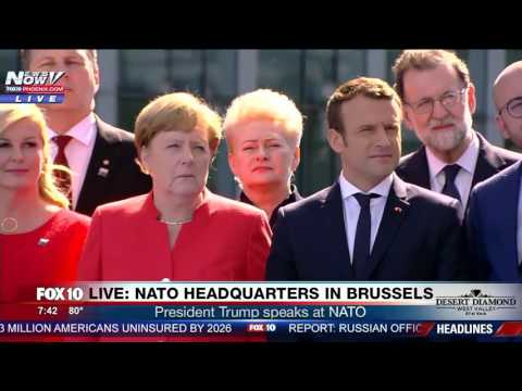 WATCH: President Trump BLASTS Leaders @ NATO, Tells Them They Need to Pay Their Share (FULL SPEECH)