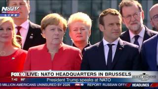 WATCH: Trump BLASTS Leaders @ NATO, Tells Them They Need to Pay Their Share (FULL SPEECH) - FNN