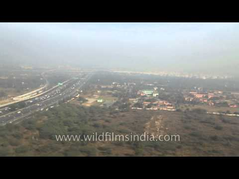 Aerial view of the national capital of India- New Delhi