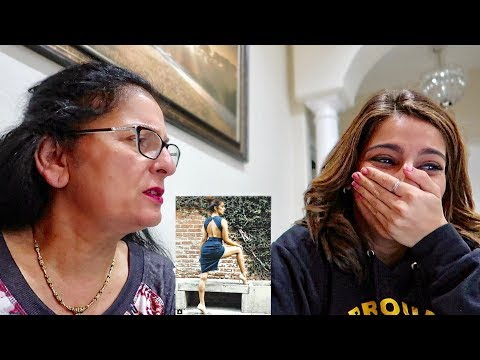 MY MOM REACTS TO MY INSTAGRAM PICS!!
