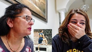 MY MOM REACTS TO MY INSTAGRAM PICS!! thumbnail