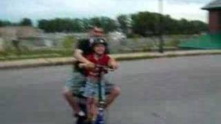 Rolling Around On an Electric Scooter