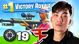 RICEGUM DOMINATES & CARRIES FAZE to FIRST WIN in FORTNITE!