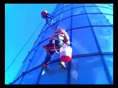 HIGH RISE WINDOW CLEANING (DAYTON INTERNATIONAL AIRPORT CONTROL TOWER)