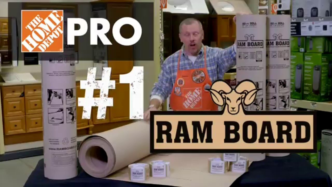Ram Board Temporary Floor Protection Roll The Home Depot