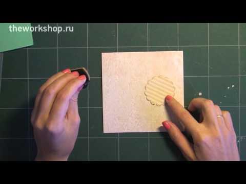 видео: Скрапбукинг для начинающих: Минималистичная открытка / the workshop