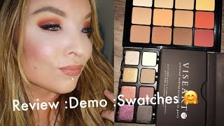 Viseart Warm Matte & Petit Pro Eyeshadow Palettes : Review : Demo : Swatches