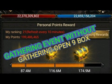 GATHERING EVENT WITHOUT GATHERING OPEN 9 BOX