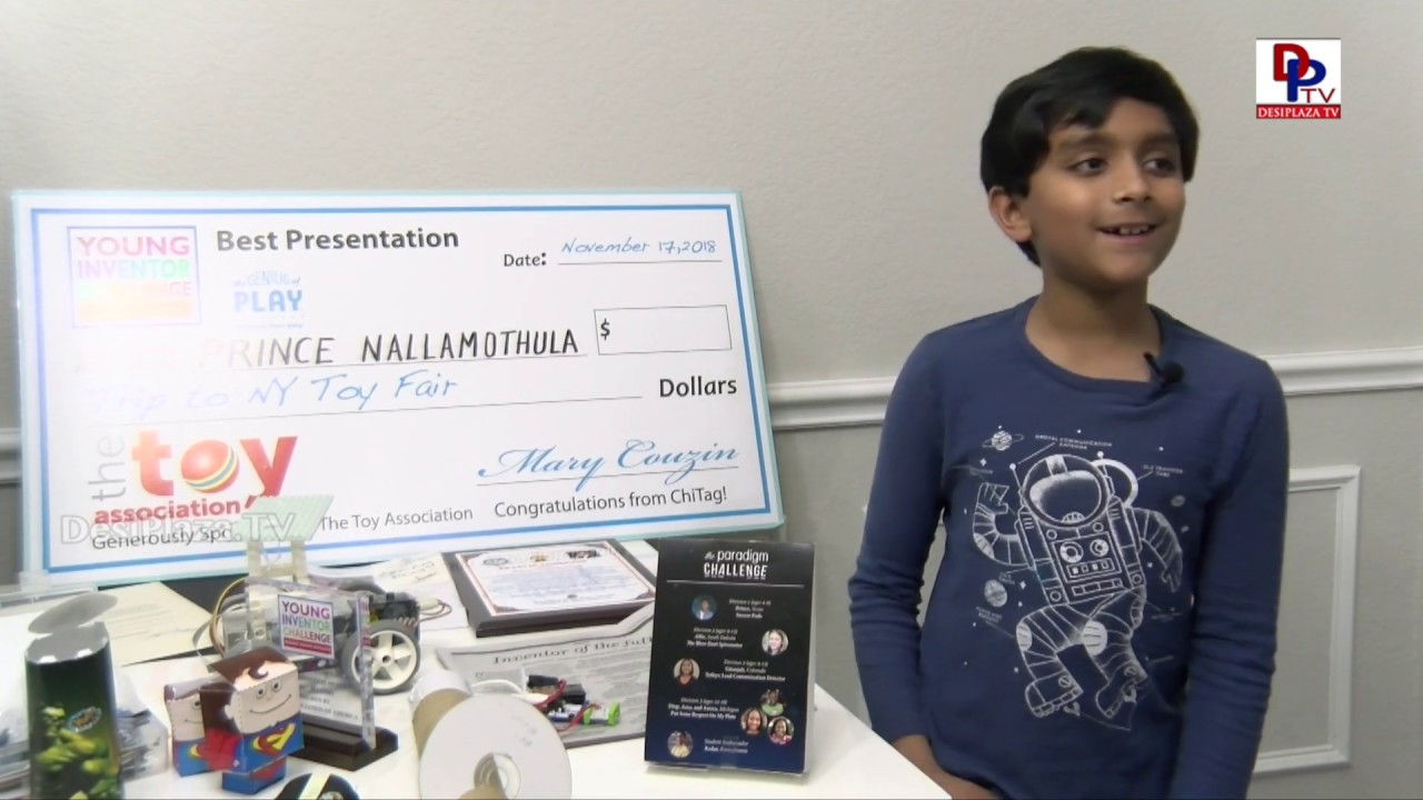These Project won me Nobel Prize for Kids - Young Inventor Challenge  -  Prince Nallamothula