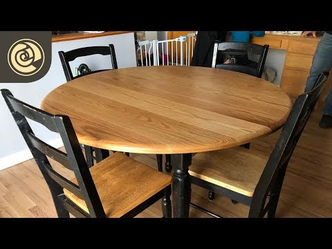Round Oak Table Top with Osmo Polyx-Oil Pure
