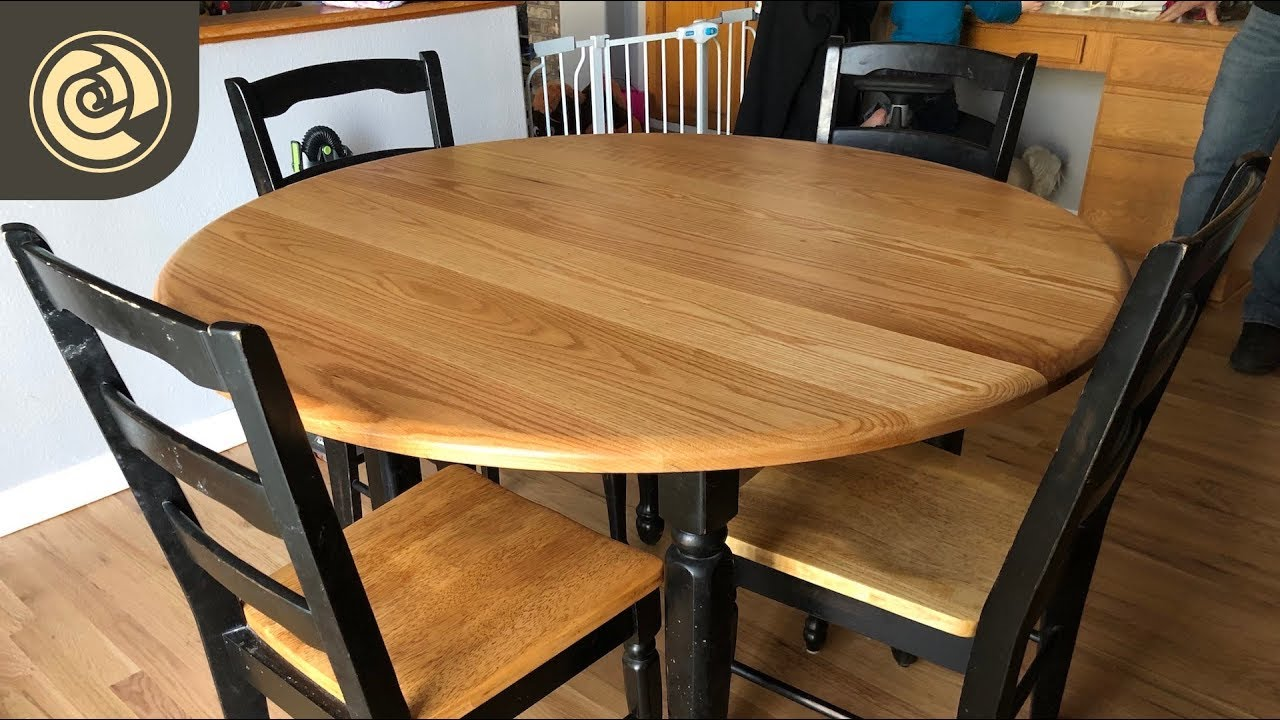 Round Oak Table Top With Osmo Polyx Oil Pure