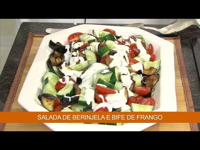 Salada de Berinjela e Bife de Frango
