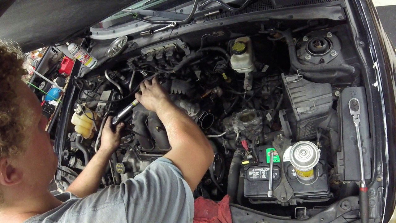 2004 Ford Escape Valve Cover Gasket Replacement Youtube