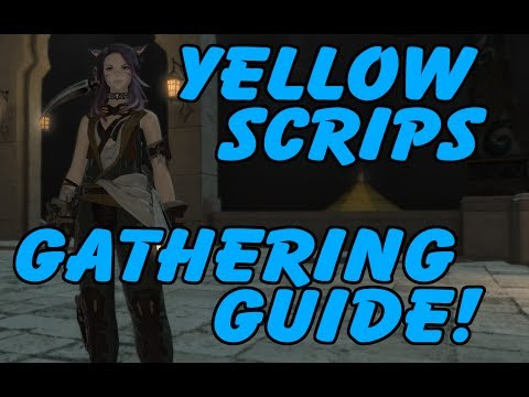 FFXIV Yellow Gatherer's Scrips Farming Guide! Easy And Fast =)