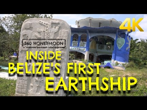 Inside Belize's First Earthship, 4K ⎸ 360 Honeymoon