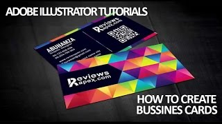 Adobe Illustrator Tutorials | HOW TO CREATE A BUSSINES CARD