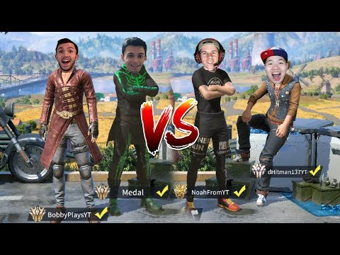 YOUTUBER 2V2 IN RULES OF SURVIVAL! Medal and Bobby Plays vs NoahFromYoutube and dHitman!