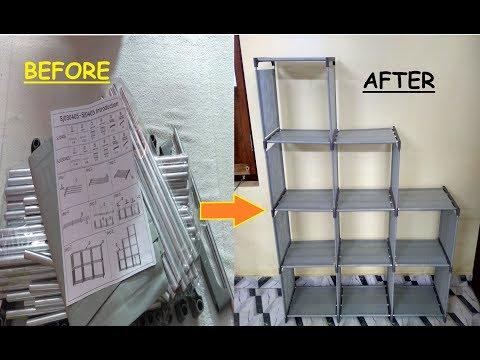 DIY METAL OPEN BOOKSHELVES Grey - Unboxing & Review | Budget BookShelf | Light weight | 12 Shelves