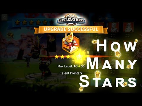 Rise of Civilizations - 5 Star Legendary Commander   How many Stars Does it Take?