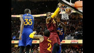 LeBron James Dunk On Warriors NBA Christmas Battle!