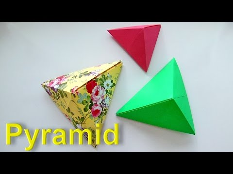 How to make a Pyramid out of Paper? Origami Tutorial for Beginners. Origami Pyramid easily