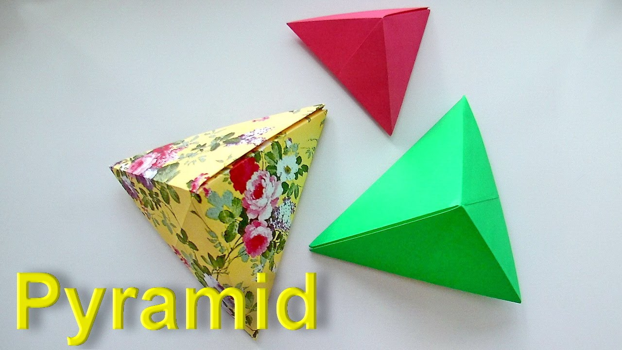 how to make a pyramid out of paper origami tutorial for beginners