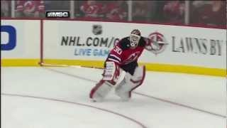 Marty Brodeur gets lucky strolling for his stick 2/9/13