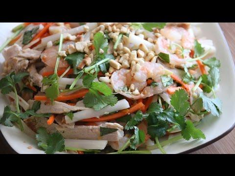 Vietnamese Lotus Root Salad (Goi Ngo Sen Tom Thit) Recipe