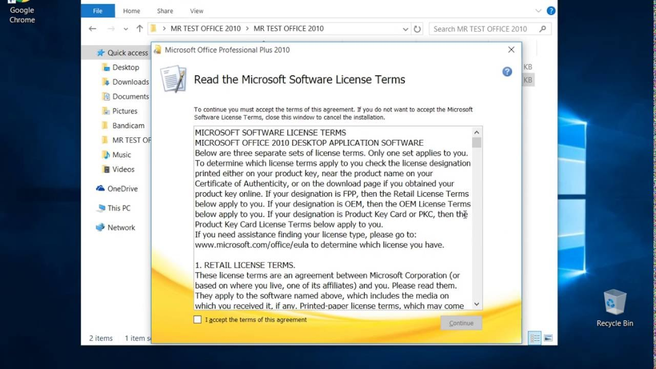 microsoft office home and business 2013 license terms