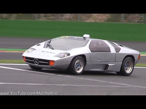 Mercedes Isdera Imperator W/ Straight Pipes LOUD V8 Sounds!