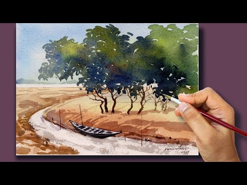 #34 Quick Watercolor Landscape Painting